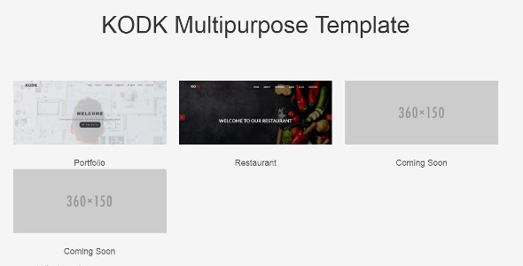 KODK multipurpose Template