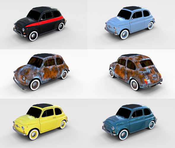 Fiat 500 Pack - 3DOcean Item for Sale