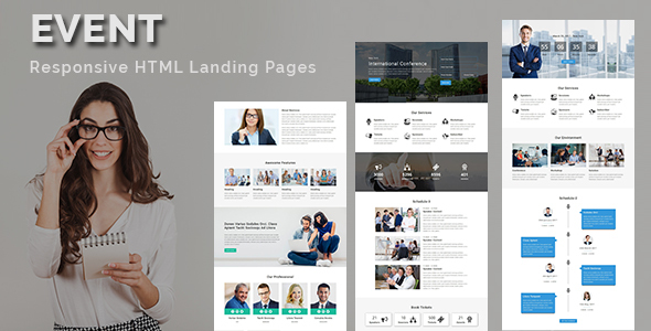 EVENT – Multipurpose Responsive HTML Landing Page