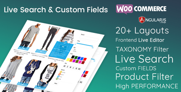 Live Search and  Custom Fields - WordPress Filter & WooCommerce Product Filter - CodeCanyon Item for Sale