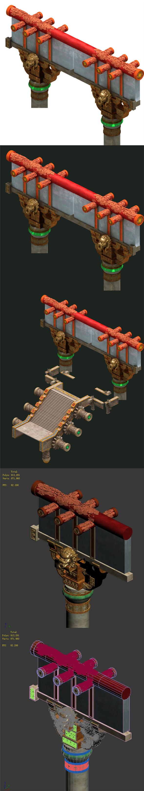 Martial art - decorative columns - 3DOcean Item for Sale