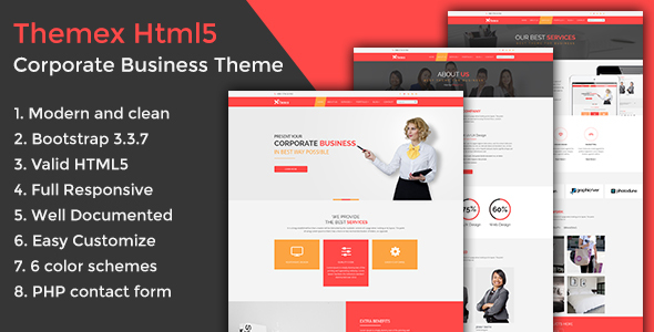 Themex Corporate Business HTML5 Template - Corporate Site Templates