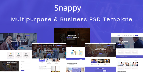 Snappy – Multipurpose & Business PSD Template