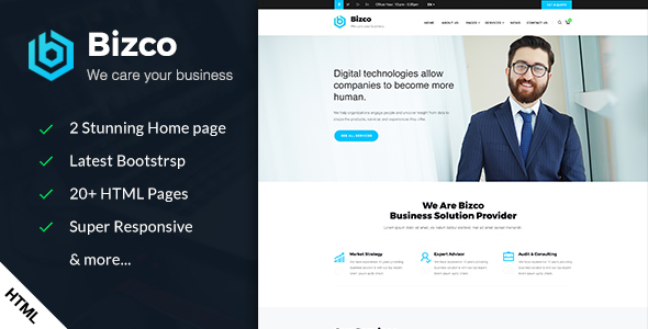 Bizco – Business & Corporate HTML Template
