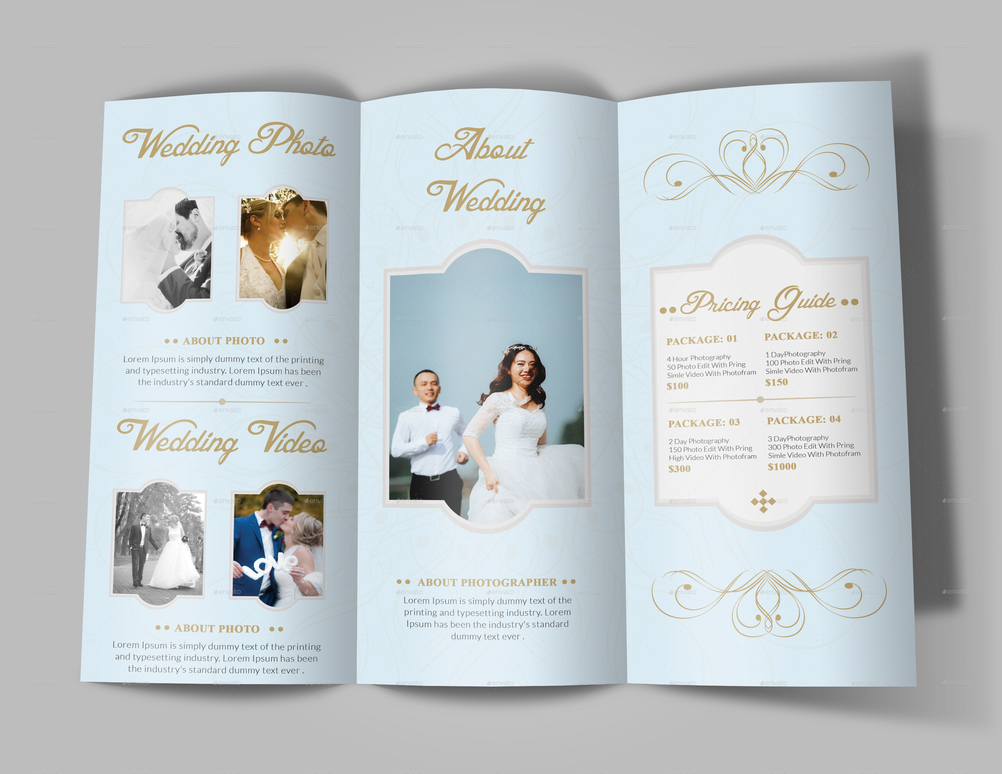 wedding brochure templates - wedding brochure template by designhaunt graphicriver