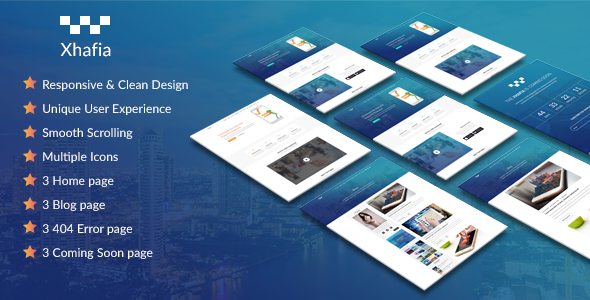 Xhafia HTML5 App Landing Page - Technology Site Templates
