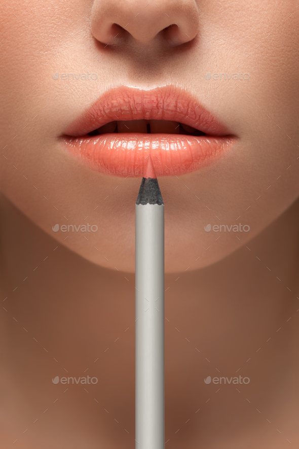 In a pencil to beauty. - Stock Photo - Images
