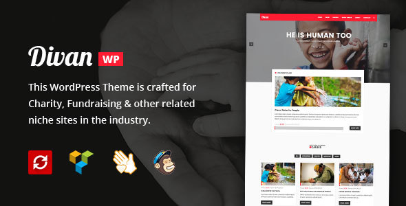 Divan - Charity, Donation & Fundraising WordPress Theme