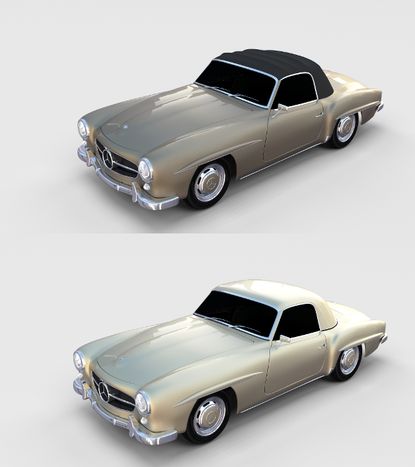 Mercedes 190SL Pack - 3DOcean Item for Sale