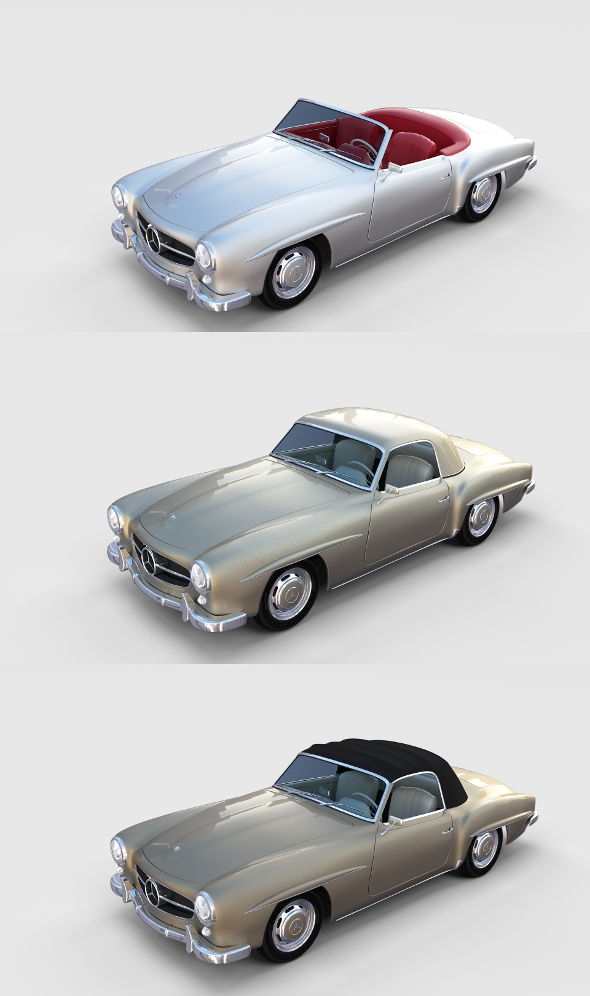 Mercedes 190SL with interior Pack - 3DOcean Item for Sale