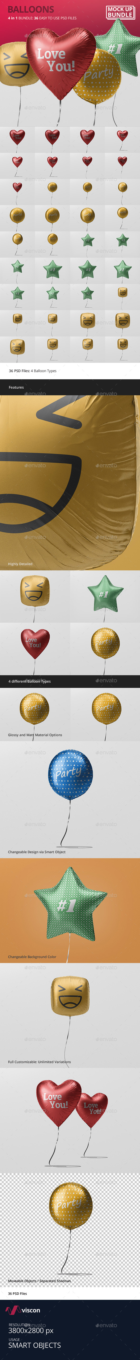 Balloon Mockup Bundle - Miscellaneous Print