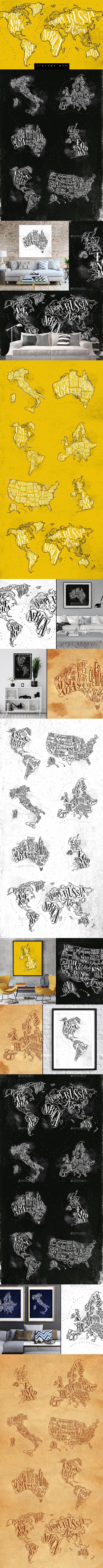 Vintage Maps - Travel Conceptual