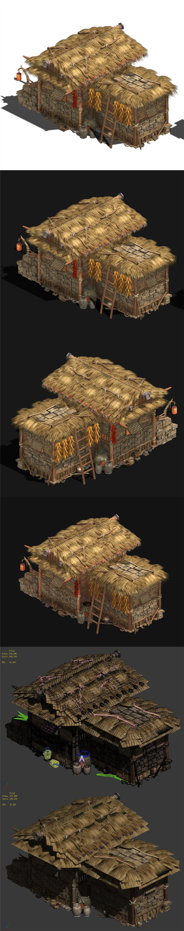 Folk Building - Thatched Cottage - 3DOcean Item for Sale