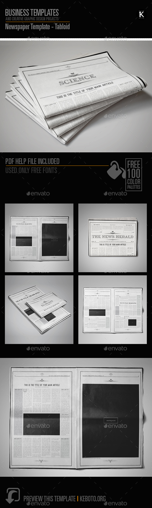 Newspaper Template - Tabloid - Magazines Print Templates
