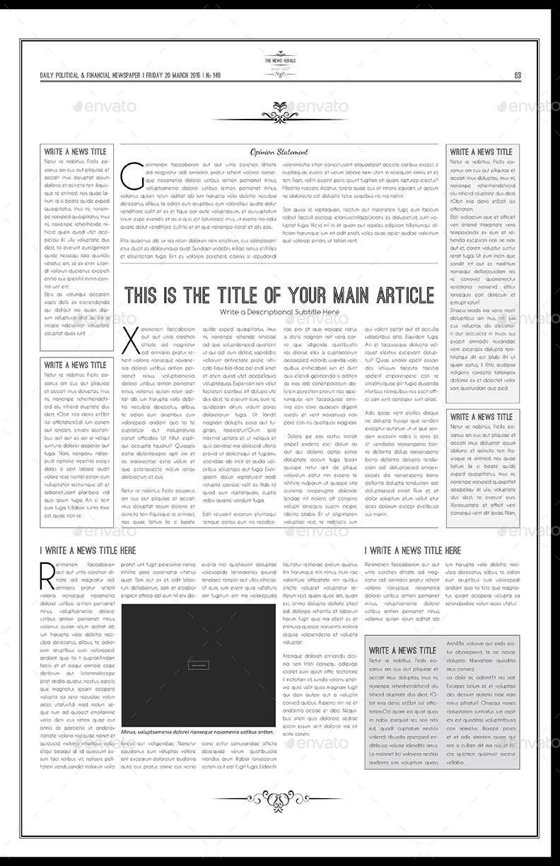Newspaper Template Tabloid