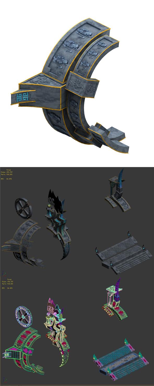 Magic City - roadside pillar 02 - 3DOcean Item for Sale