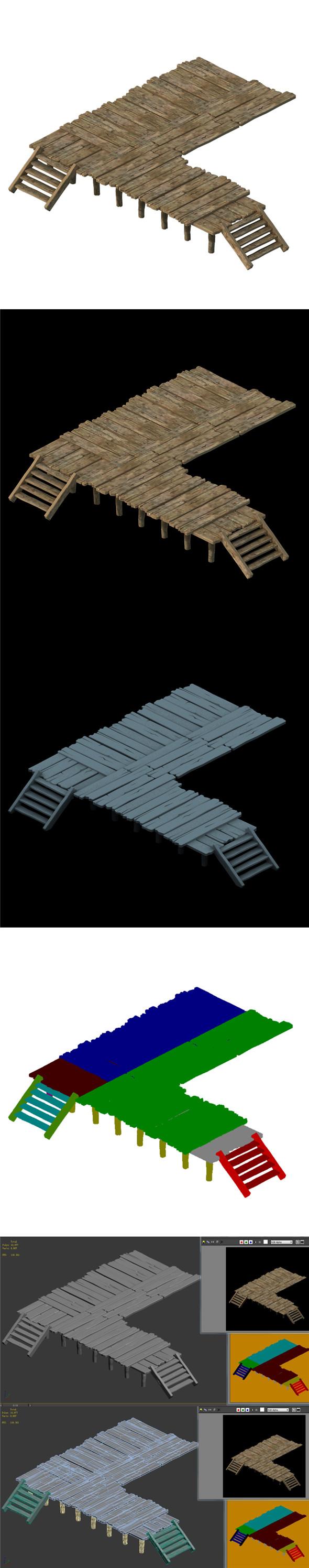 Wooden board - corridor stairs 03 - 3DOcean Item for Sale