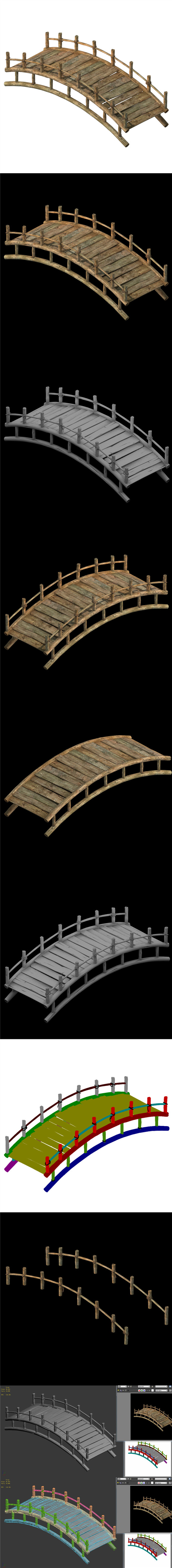 Wooden Buildings - Wooden Bridge 032 - 3DOcean Item for Sale