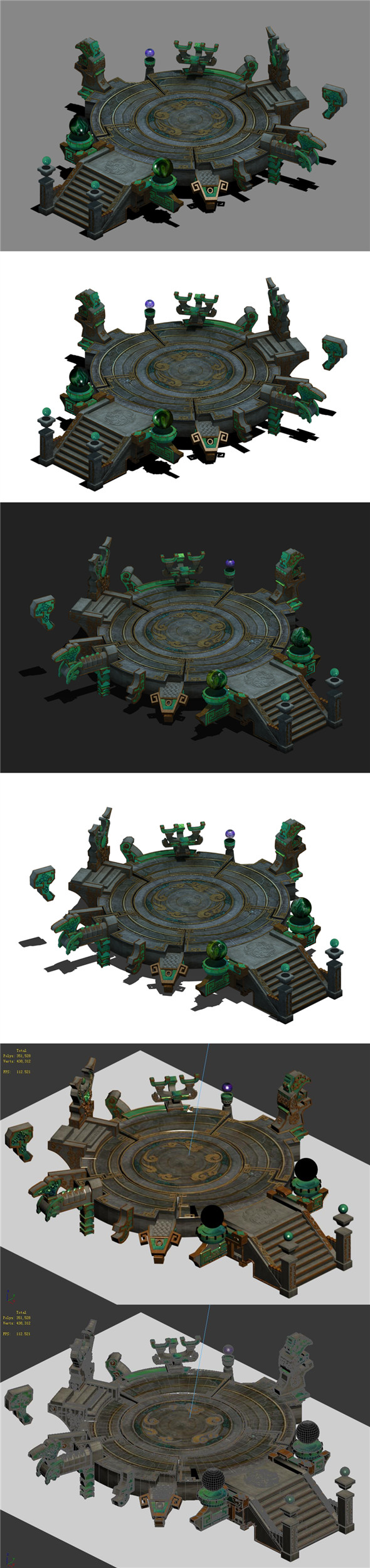 Mu Lan Temple - transmission point 25 - 3DOcean Item for Sale