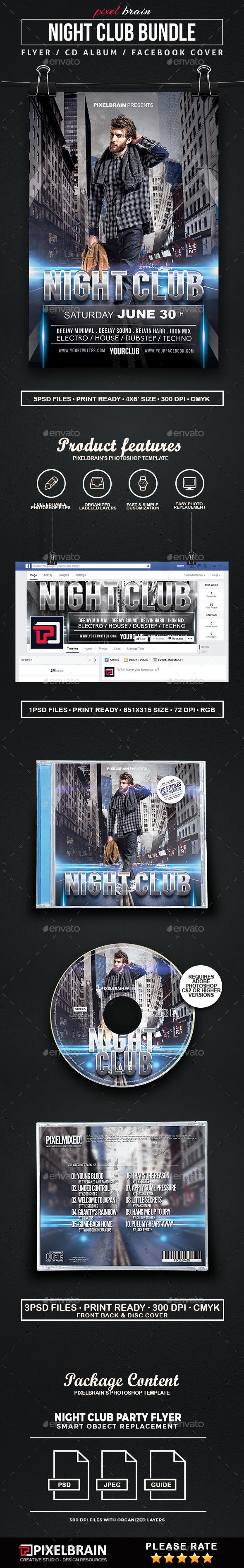 Night Club Party Template Bundle - Print Templates