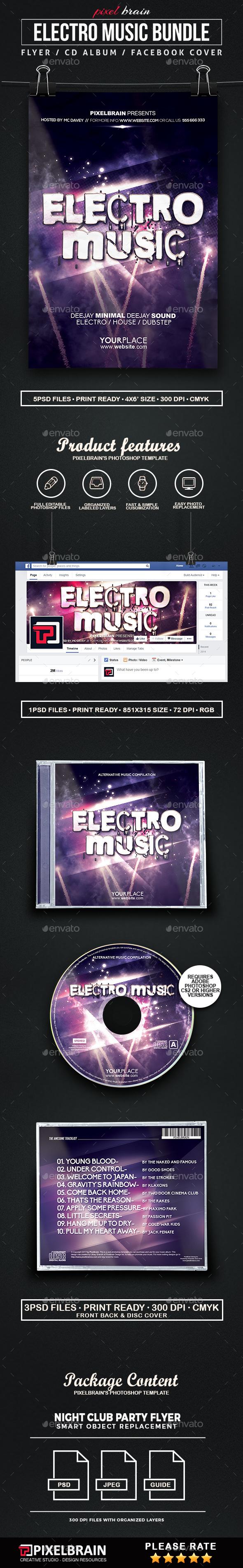Electro Music Template Bundle - Print Templates