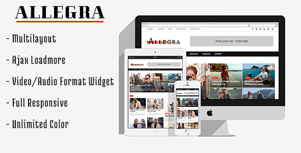 Allegra – A Multilayout Blog & Magazine Theme