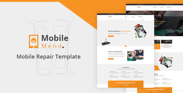 Mobile Mend - Mobile Repair HTML Template - Technology Site Templates