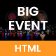 BigEvent - Event, Conference & Meetup HTML Template Nulled