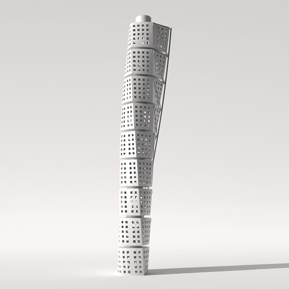 Skyscraper Turning Torso - 3DOcean Item for Sale