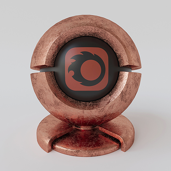 Old copper material for corona render 1.5 - 3DOcean Item for Sale
