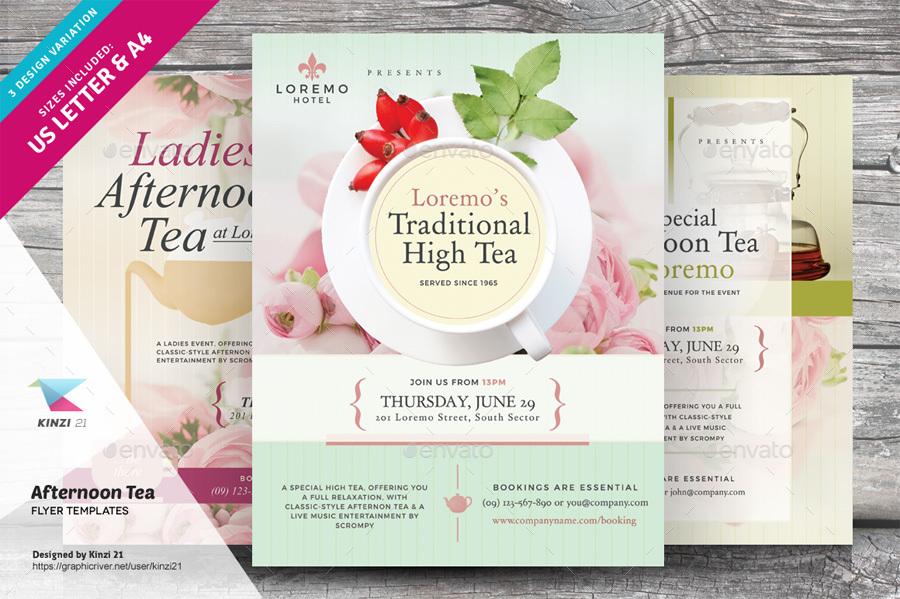 Templates Flyers For High Tea Dolapgnetband