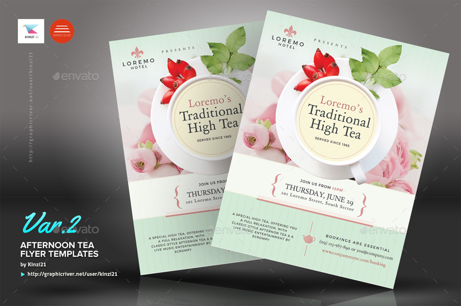 afternoon tea flyer templates by kinzi21 graphicriver
