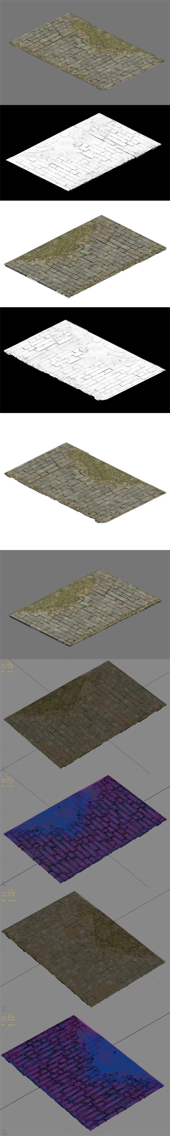Broken - ordinary tiles - 3DOcean Item for Sale