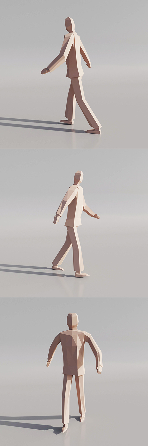 Low poly human - 3DOcean Item for Sale
