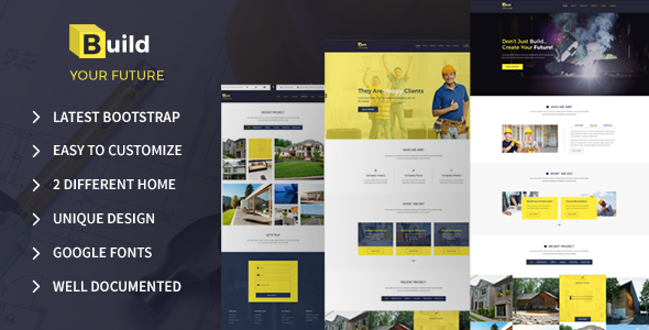 Build Your Future - Construction Bootstrap Template - Business Corporate