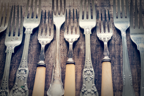 Vintage Cutlery - Stock Photo - Images