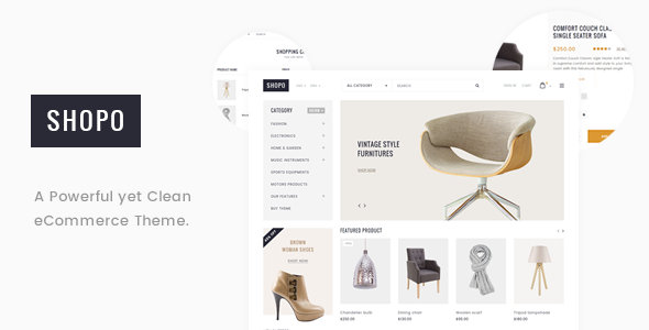 Shopo – Simple & Clean Responsive Shopify Template