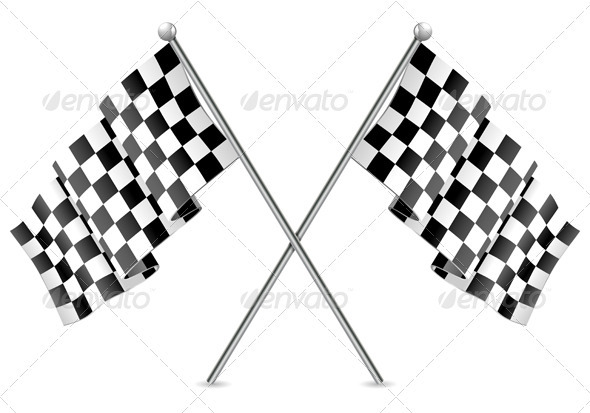 Racing Checkered Flags Finish - Sports/Activity Conceptual