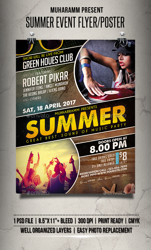 Summer Event Flyer / Poster - Clubs & Parties Events
