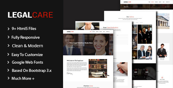 Legalcare – Law Agency HTML5 Template