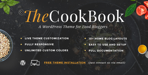 TheCookBook - A WordPress Theme for Food Bloggers - Blog / Magazine WordPress
