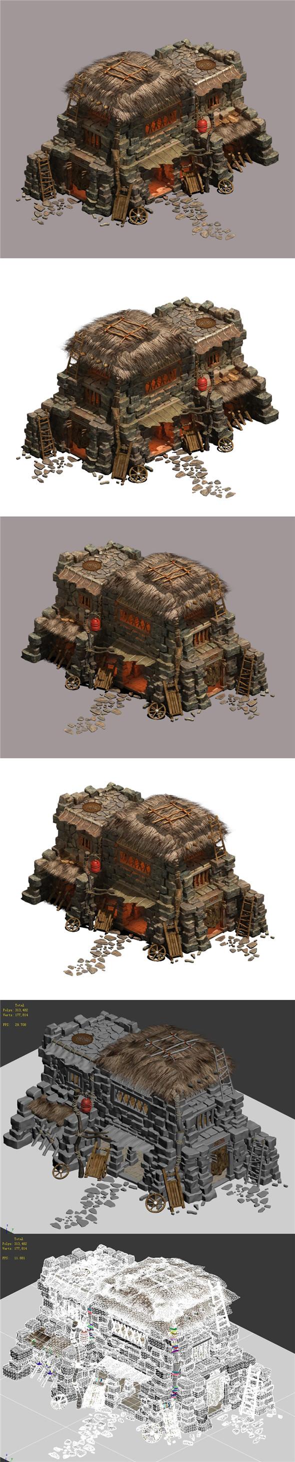 Desert - Straw House - 3DOcean Item for Sale