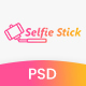 Selfie Stick Photography PSD Template Nulled
