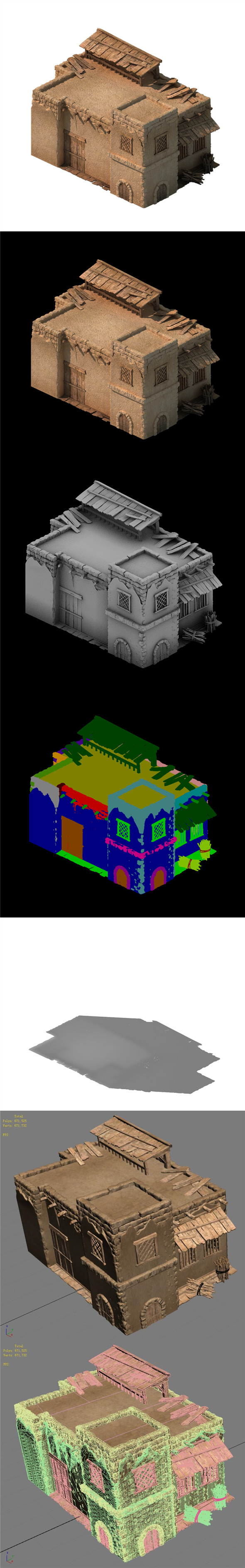 Desert Ancient Battlefield - House 02 - 3DOcean Item for Sale