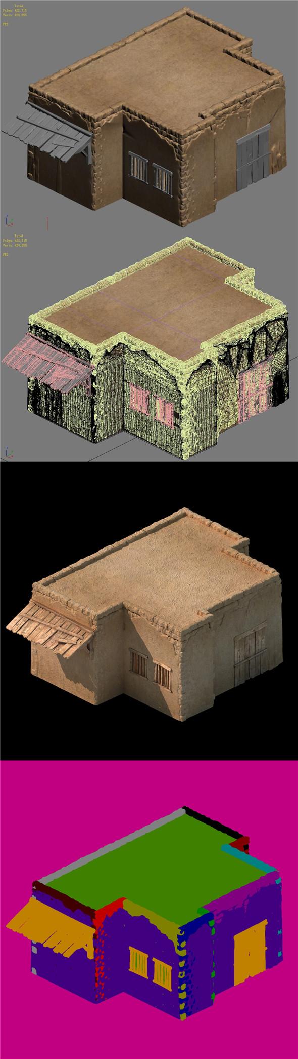 Desert Ancient Battlefield - House 03 - 3DOcean Item for Sale