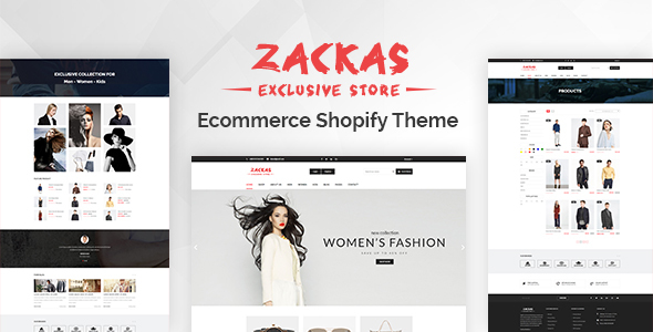 Zackas - Responsive Shopify Theme + Dropshipping - Fashion Shopify