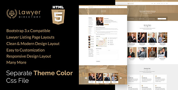 Aashi - Lawyers Listing and Law Firm HTML Template - Business Corporate