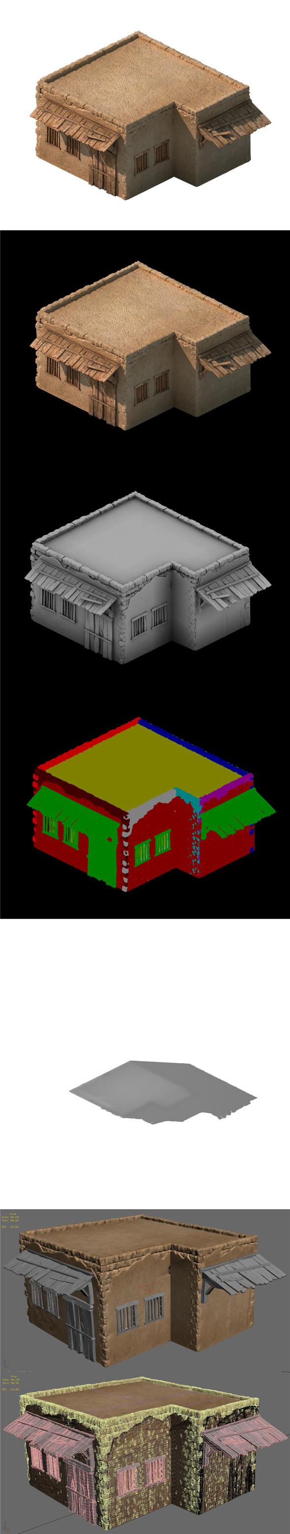 Desert Ancient Battlefield - House 05 - 3DOcean Item for Sale
