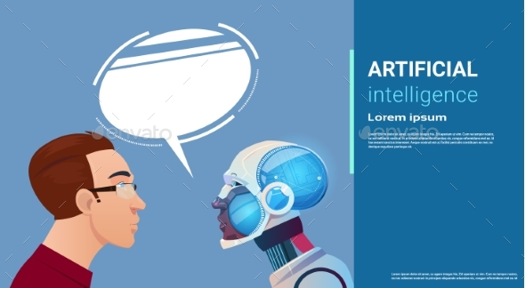 Artificial Intelligence Man Communication With - Technology Conceptual