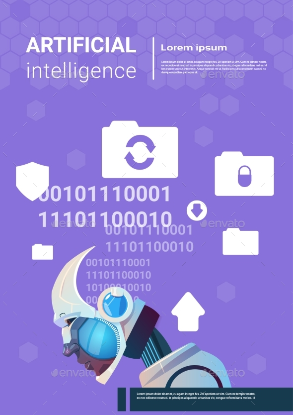 Artificial Intelligence Modern Robot Brain - Technology Conceptual